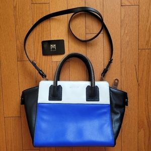 Milly Logan Small Leather Colorblock Tote